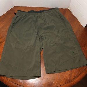 The North Face Burnt Olive Green Drawstring Shorts